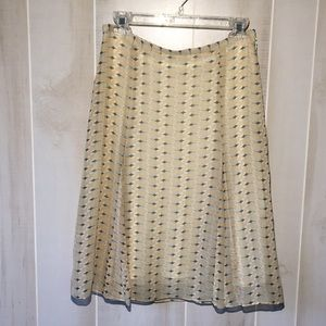 Anthropologie Georgette Pleated A Line Skirt S 4
